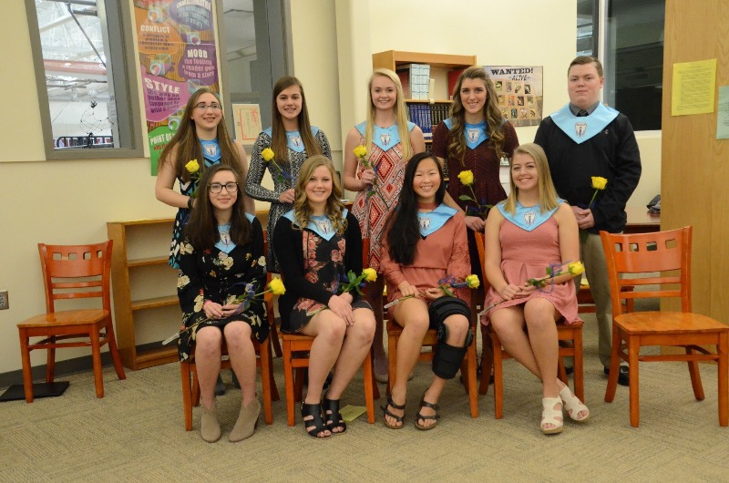 9 students inducted Friend Chapter National Honor Society